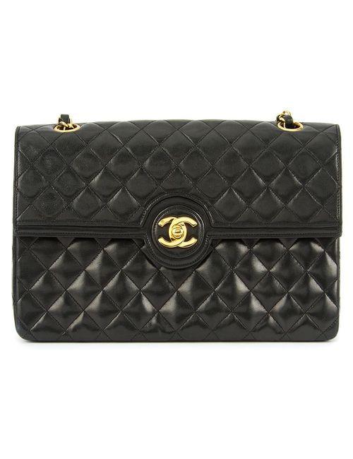 Chanel Vintage   Женская Чёрная Сумка С Цепочной Ручкой