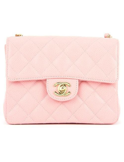 Chanel Vintage | Женская Розовая Сумка На Плечо С Цепочной Лямкой