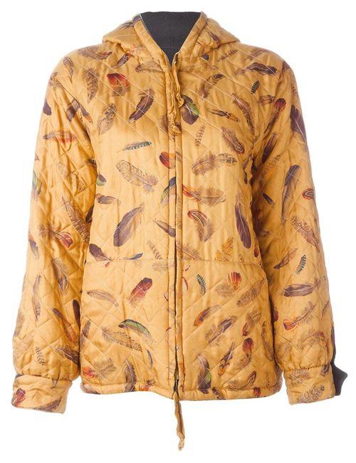Hermès Vintage | Женская Коричневая Двухсторонняя Куртка С Капюшоном
