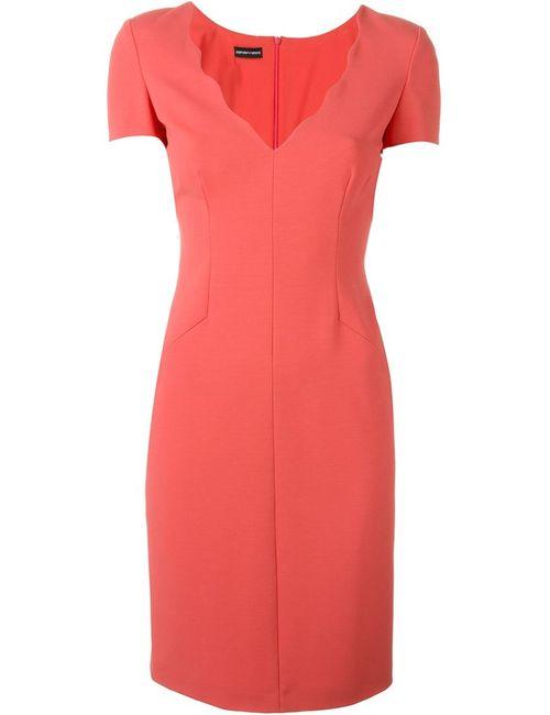 Emporio Armani | Женское Розовый Scalloped V-Neck Dress