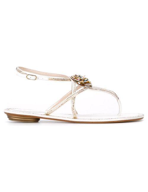Rene' Caovilla | Женское Белый Sunshine Sandals