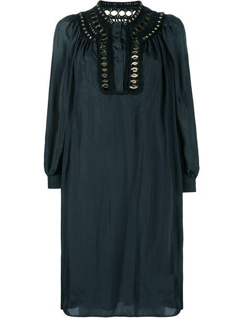 Alberta Ferretti | Женское Чёрный Embellished Silk Dress