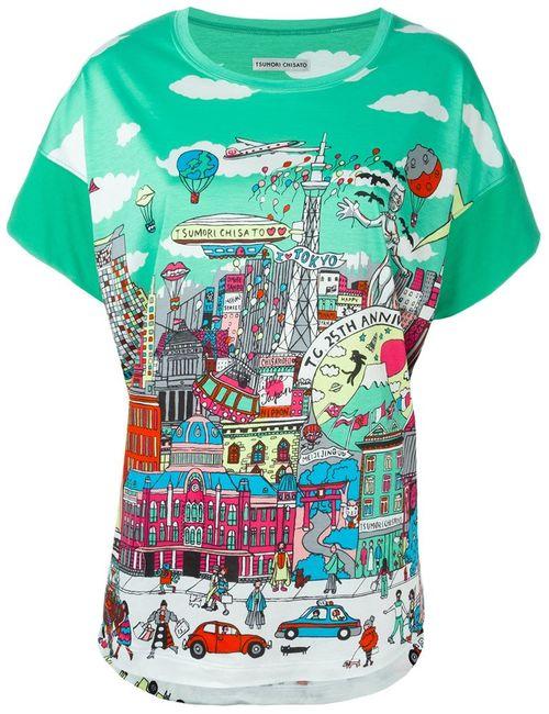 Tsumori Chisato | Женское Зелёный 25th Anniversary Print Relaxed Fit T-Shirt