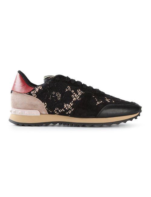 Valentino Garavani | Женское Синий Rockrunner Lace Sneakers