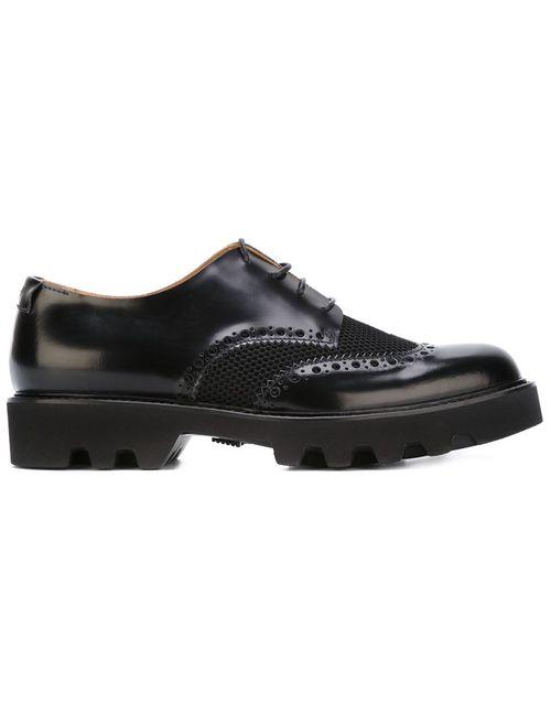 Emporio Armani | Мужские Чёрные Перфорированные Туфли