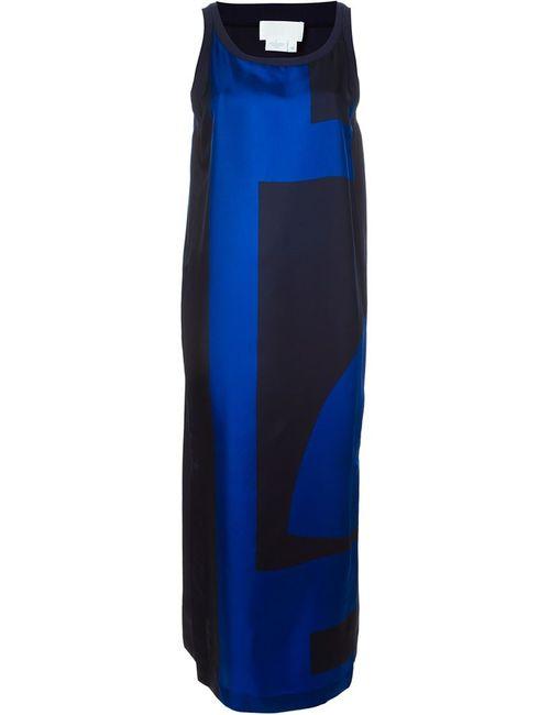DKNY | Женское Синий Abstract Print Maxi Dress