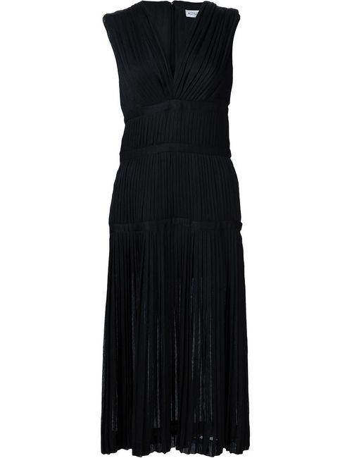 Altuzarra | Женское Чёрный Pleated V-Neck Dress