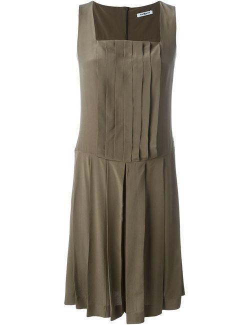 Cacharel | Женское Зелёное Плиссированное Платье