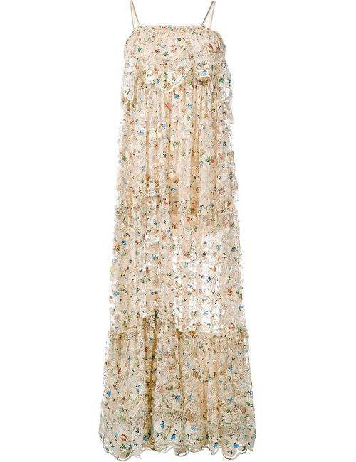 Chloe   Женское Многоцветный Sleeveless Print Lace Dress