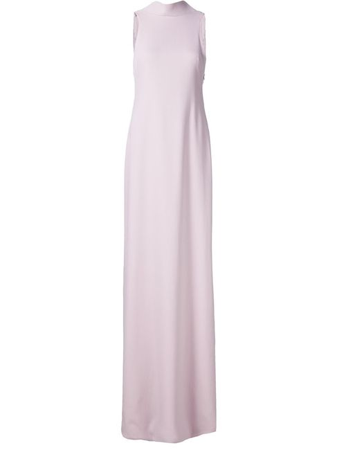 Brandon Maxwell | Женское Розовый Open Back Long Dress