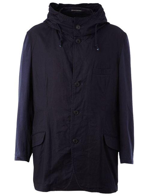 Yohji Yamamoto | Мужская Синяя Куртка С Капюшоном