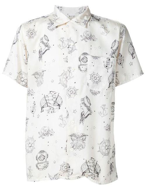 RRL | Мужское Белый Sailor Print Shirt