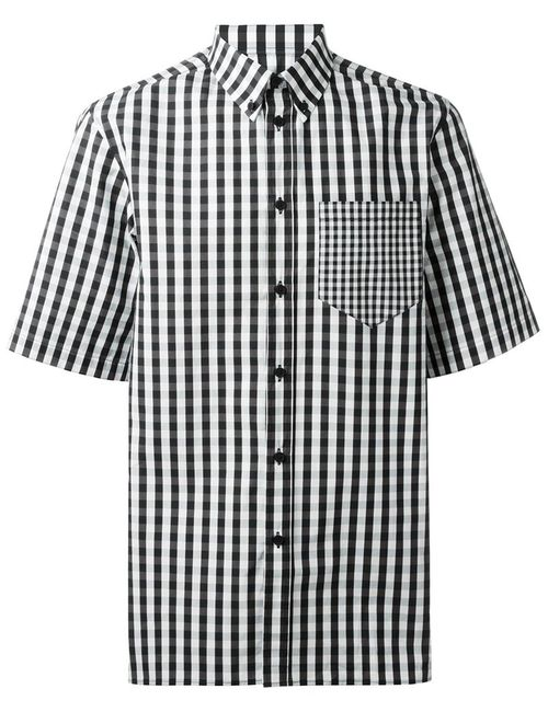 Givenchy | Мужское Чёрный Gingham Checked Shirt