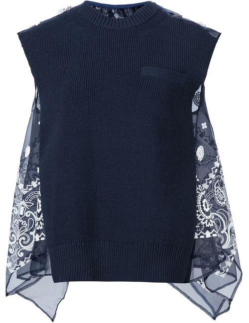 Sacai | Женское Черный Bandana Detail Tank Top