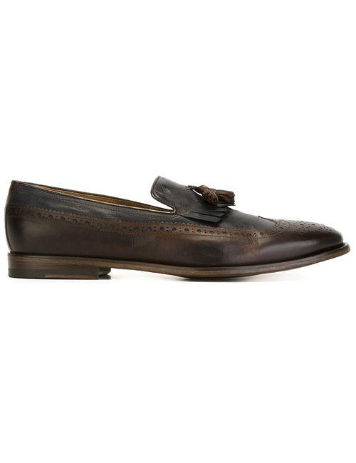 Doucal's | Мужское Коричневый Broguing Detail Slippers