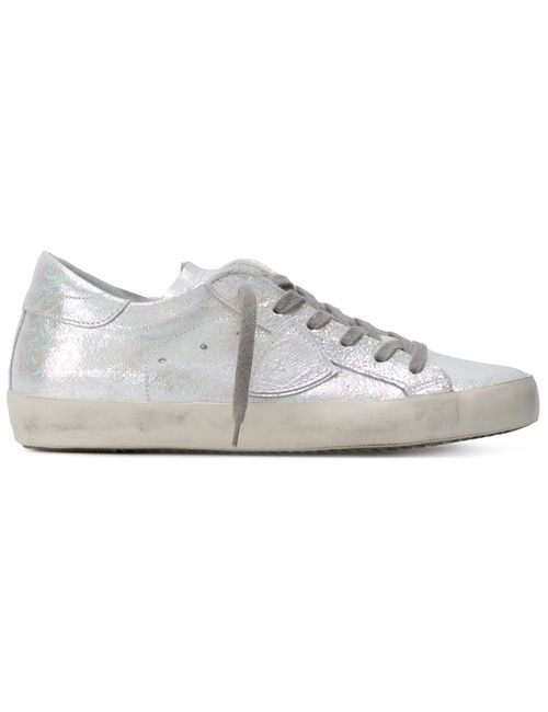 Philippe Model   Женское Белый Iridescent Classic Sneakers