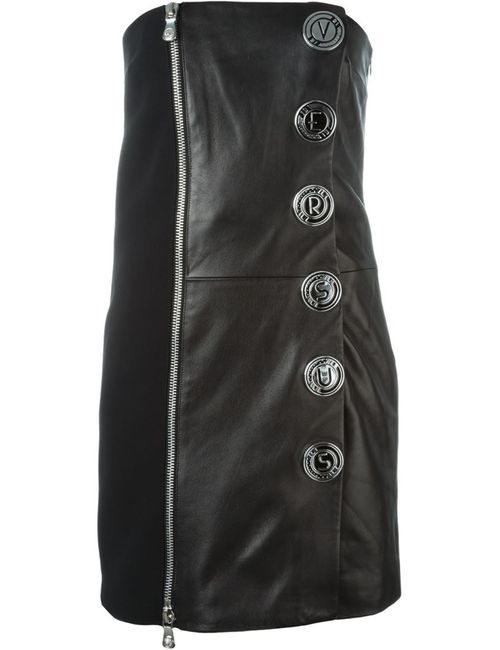 Versus | Женское Чёрное Платье Без Бретелек