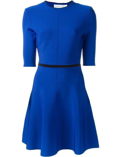 Victoria, Victoria Beckham | Женское Синий Open Back Detail Skater Dress