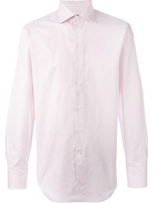 Canali   Мужская Розовая Классическая Рубашка