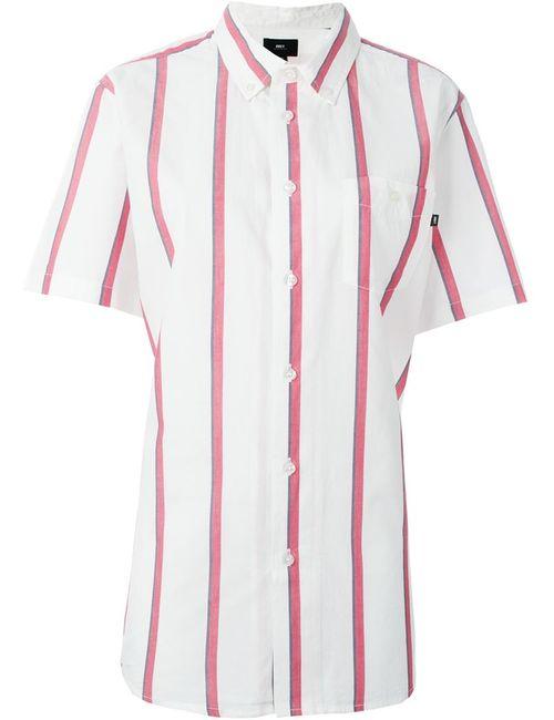 Obey | Мужская Белая Полосатая Рубашка