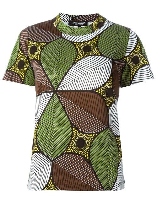 JUNYA WATANABE COMME DES GARCONS | Женское Коричневый African Flower Print T-Shirt