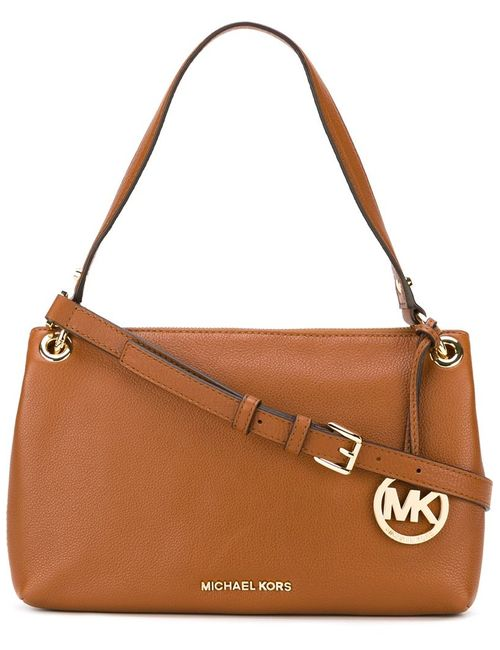 Michael Michael Kors | Женское Коричневый Textured Zip Up Shoulder Bag