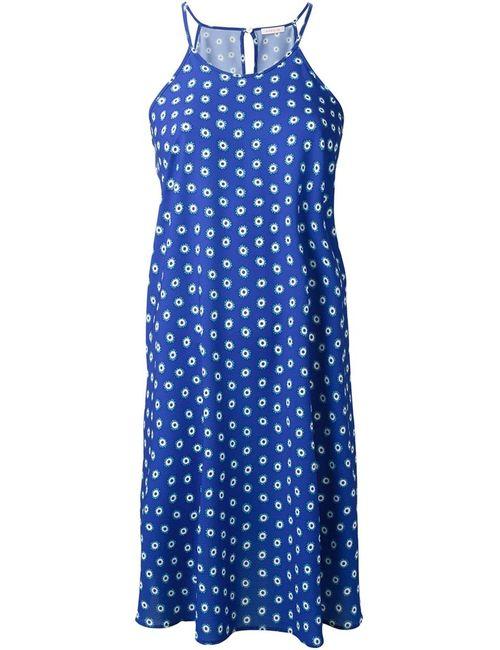 P.A.R.O.S.H. | Женское Синее Платье С Принтом