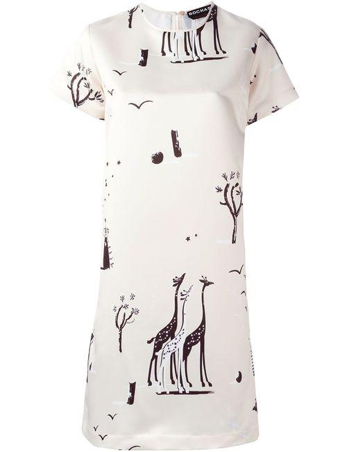 Rochas | Женское Платье С Принтом