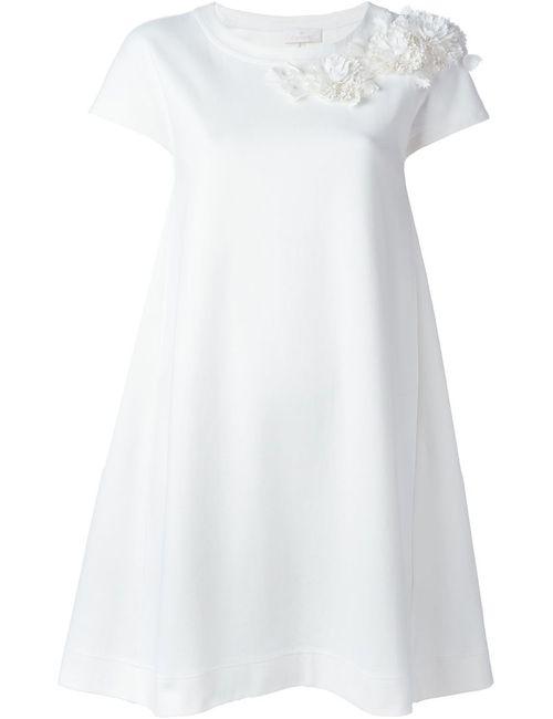 Roberto Capucci | Женское Белый Flower Appliqué Detail Dress