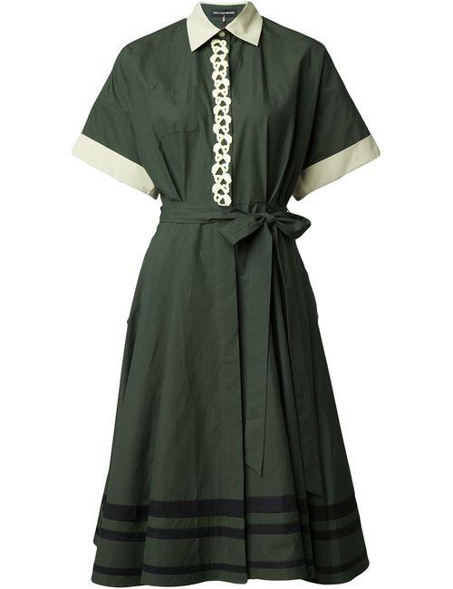 Vika Gazinskaya | Женское Зелёный Embroidered Shirt Dress