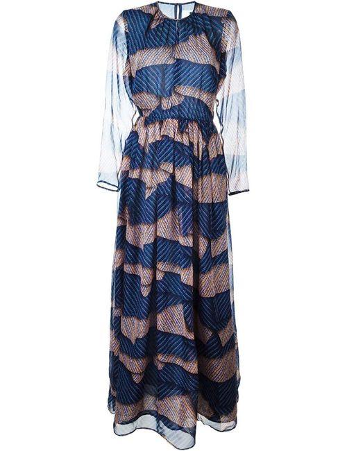 MSGM | Женское Синий Printed Long Dress