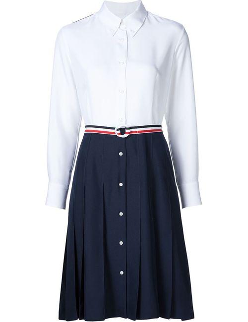 Thom Browne | Женское Белый Print Dress