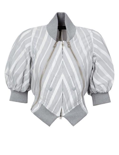 ANREALAGE | Женская Серая Полосатая Куртка-Бомбер