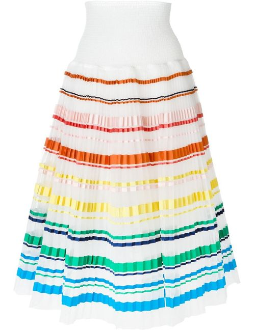 SI-JAY | Женское Белый Striped Pleated Skirt