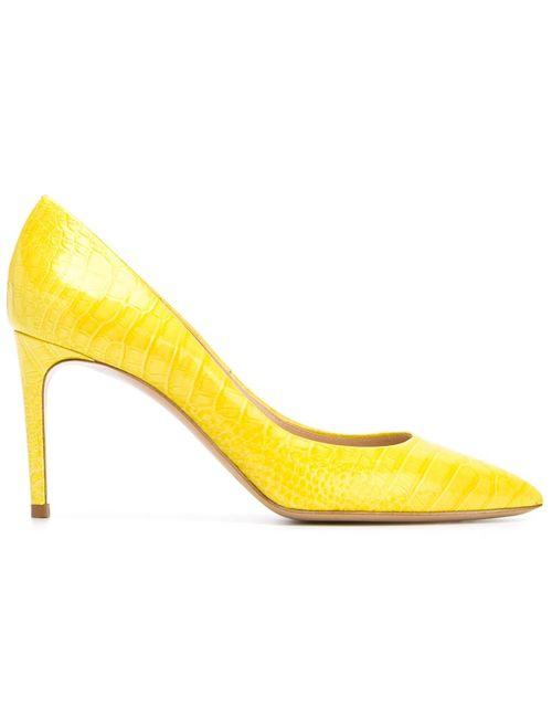 Casadei | Женские Жёлтые Туфли На Среднем Каблуке