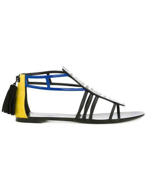Casadei | Женское Черный Geometric-Pattern Sandals
