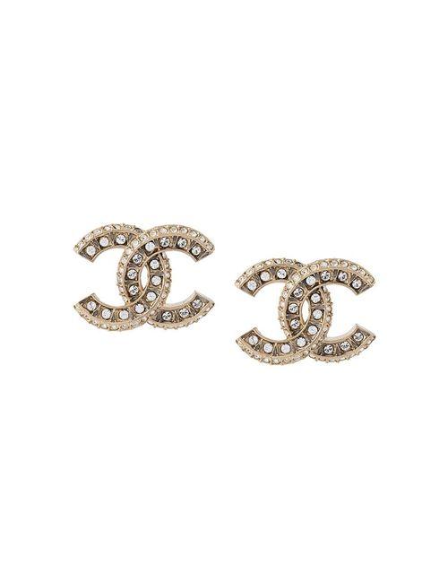 Chanel Vintage | Женское Серебристый Logo Earrings