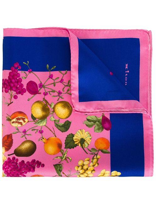 Kiton   Мужское Розовый Fruits Print Pocket Square