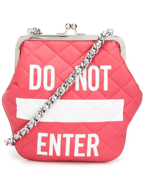 Moschino | Женское Красный Do Not Enter Shoulder Bag