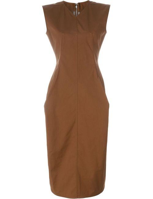 Rick Owens | Женское Коричневое Платье Wasp Calpurnia