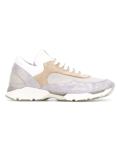 Eleventy | Женское Nude & Neutrals Panelled Running Sneakers