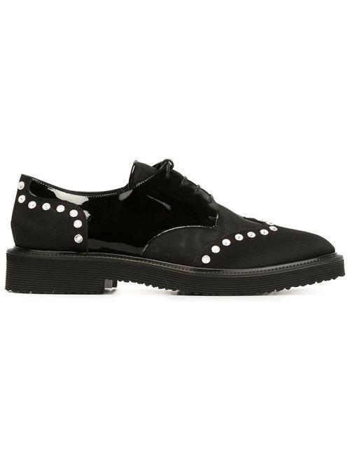 Giuseppe Zanotti Design   Женское Чёрный Embellished Lace-Up Shoes