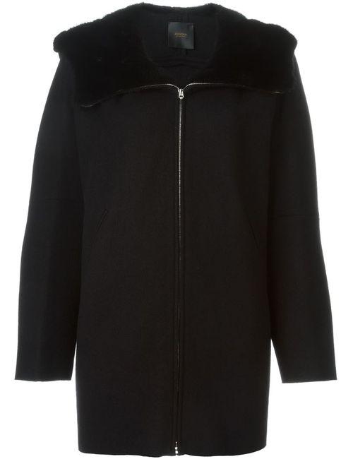 Agnona | Женская Чёрная Куртка С Отделкой И Меха Норки