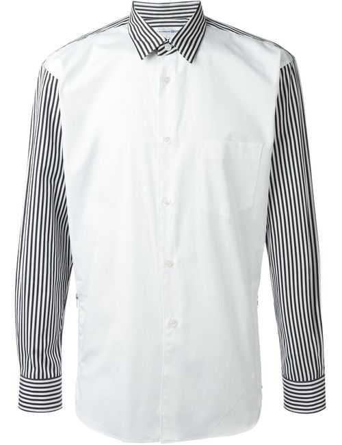 Comme Des Garcons | Мужское Чёрный Striped Panel Shirt