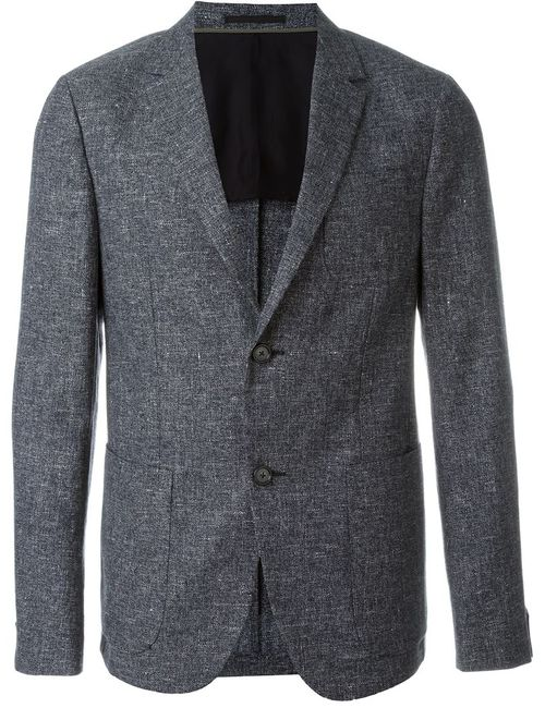 Z Zegna | Мужское Синий Textured Single Breasted Blazer