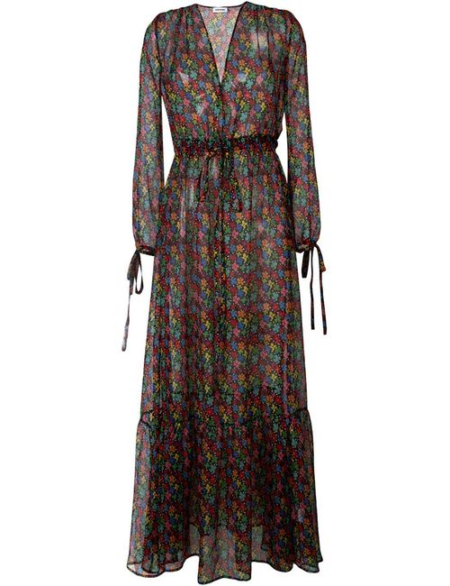 Au Jour Le Jour | Женское Чёрное Платье С Цветочным Принтом