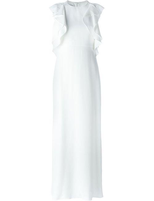 Dondup | Женское Белое Платье С Рюшами
