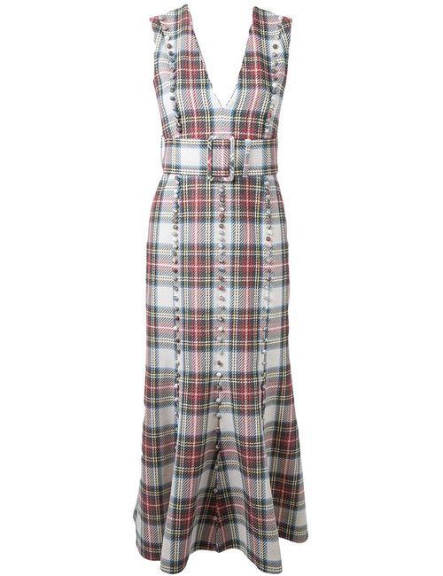 TARO HORIUCHI | Женское Белый Checked Midi Dress
