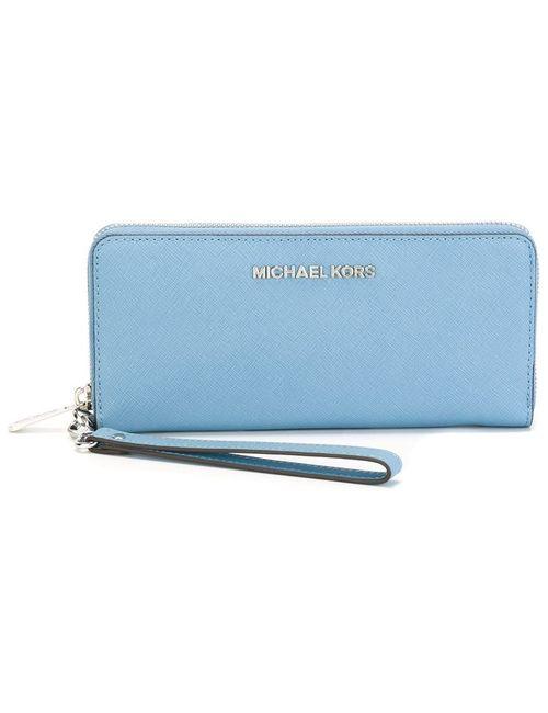 Michael Michael Kors | Женское Синий Zip Up Jet Set Long Wallet