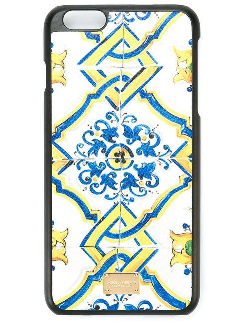 Dolce & Gabbana | Женское Белый Majolica Print Iphone 6 Plus Case